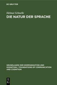 Cover Die Natur der Sprache