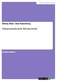 Cover Exkursionsbericht Böhmerwald