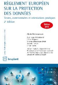 Cover Règlement européen sur la protection des données