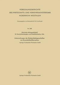 Cover Untersuchungen der Bindemitteleigenschaften von Braunkohlenfilteraschen