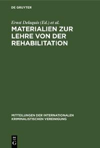 Cover Materialien zur Lehre von der Rehabilitation