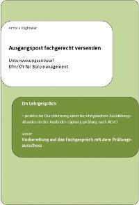 Cover Ausgangspost fachgerecht versenden - Unterweisungsentwurf Kfm/Kfr für Büromanagement