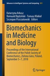 Cover Biomechanics in Medicine and Biology
