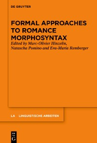 Cover Formal Approaches to Romance Morphosyntax