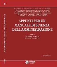 Cover Appunti per un manuale di scienza dell'amministrazione