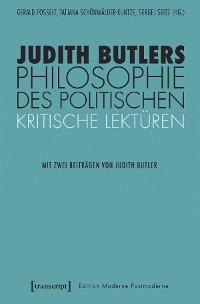Cover Judith Butlers Philosophie des Politischen
