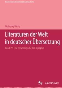 Cover Literaturen der Welt in deutscher Ubersetzung