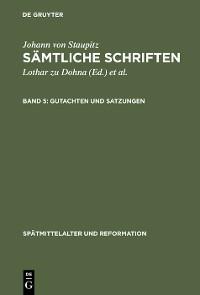 Cover Gutachten und Satzungen