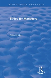 Cover Ethics for Managers