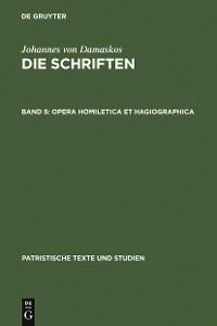 Cover Opera homiletica et hagiographica