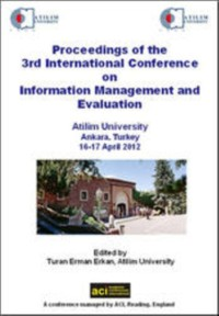 Cover Proceedings of the 3rd International Conference on Information Management and Evauation