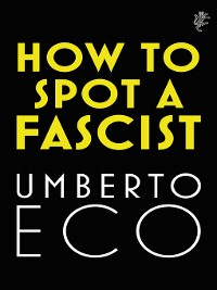 Cover How to Spot a Fascist