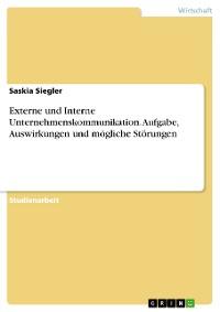 Cover Externe und Interne Unternehmenskommunikation