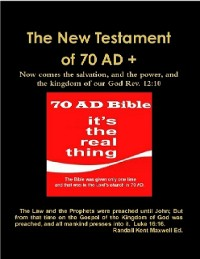 Cover The New Testament of 70 AD +