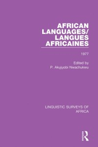 Cover African Languages/Langues Africaines
