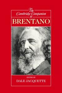 Cover Cambridge Companion to Brentano