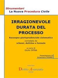 Cover IRRAGIONEVOLE DURATA DEL PROCESSO. Rassegna giurisprudenziale sistematica corredata da schemi, dottrina e formule