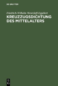 Cover Kreuzzugsdichtung des Mittelalters