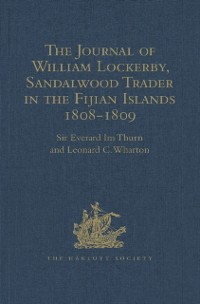 Cover Journal of William Lockerby, Sandalwood Trader in the Fijian Islands during the Years 1808-1809
