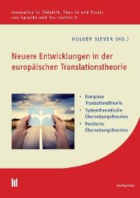 Cover Neuere Entwicklungen in der europäischen Translationstheorie