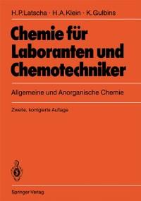 Cover Chemie fur Laboranten und Chemotechniker