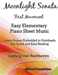 Cover Moonlight Sonata First Movement Easy Elementary Piano Sheet Music
