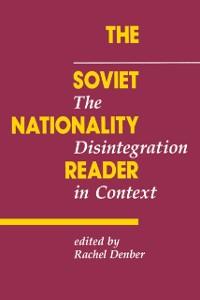Cover Soviet Nationality Reader