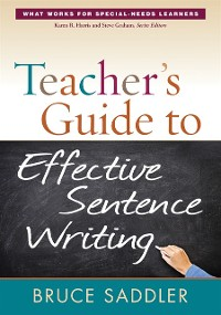 Cover Teacher's Guide to Effective Sentence Writing