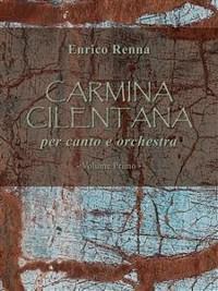 Cover CARMINA CILENTANA per canto e orchestra volume primo