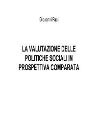 Cover La valutazione delle politiche sociali in prospettiva comparata