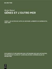 Cover Les actes de Caffa du notaire Lamberto di Sambuceto, 1289–1290