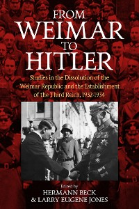 Cover From Weimar to Hitler