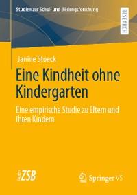 Cover Eine Kindheit ohne Kindergarten