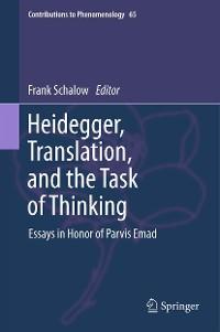 Cover Heidegger, Translation, and the Task of Thinking