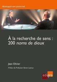 Cover À la recherche de sens