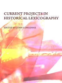 Cover Current Projects in Historical Lexicography