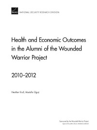 Cover Health and Economic Outcomes in the Alumni of the Wounded Warrior Project