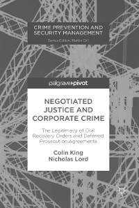 Cover Negotiated Justice and Corporate Crime