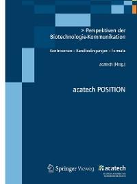 Cover Perspektiven der Biotechnologie-Kommunikation