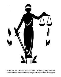 Cover Justitia wird blind