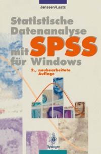 Cover Statistische Datenanalyse mit SPSS fur Windows