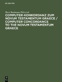 Cover Computer-Konkordanz zum Novum Testamentum Graece