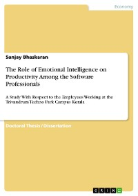 Cover The Role of Emotional Intelligence on Productivity Among the Software Professionals