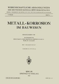 Cover Metall-Korrosion im Bauwesen