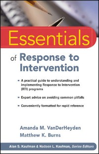 Cover Essentials of Response to Intervention