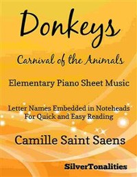 Cover Donkeys Carnival of the Animals Elementary Piano Sheet Music