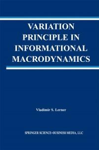 Cover Variation Principle in Informational Macrodynamics