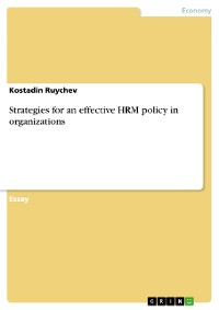 Cover Strategies for an effective HRM policy in organizations