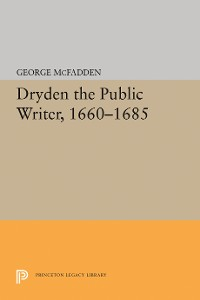 Cover Dryden the Public Writer, 1660-1685