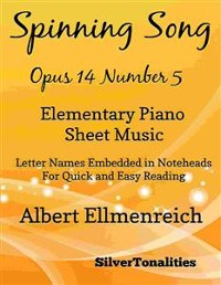 Cover Spinning Song Elementary Piano Sheet Music